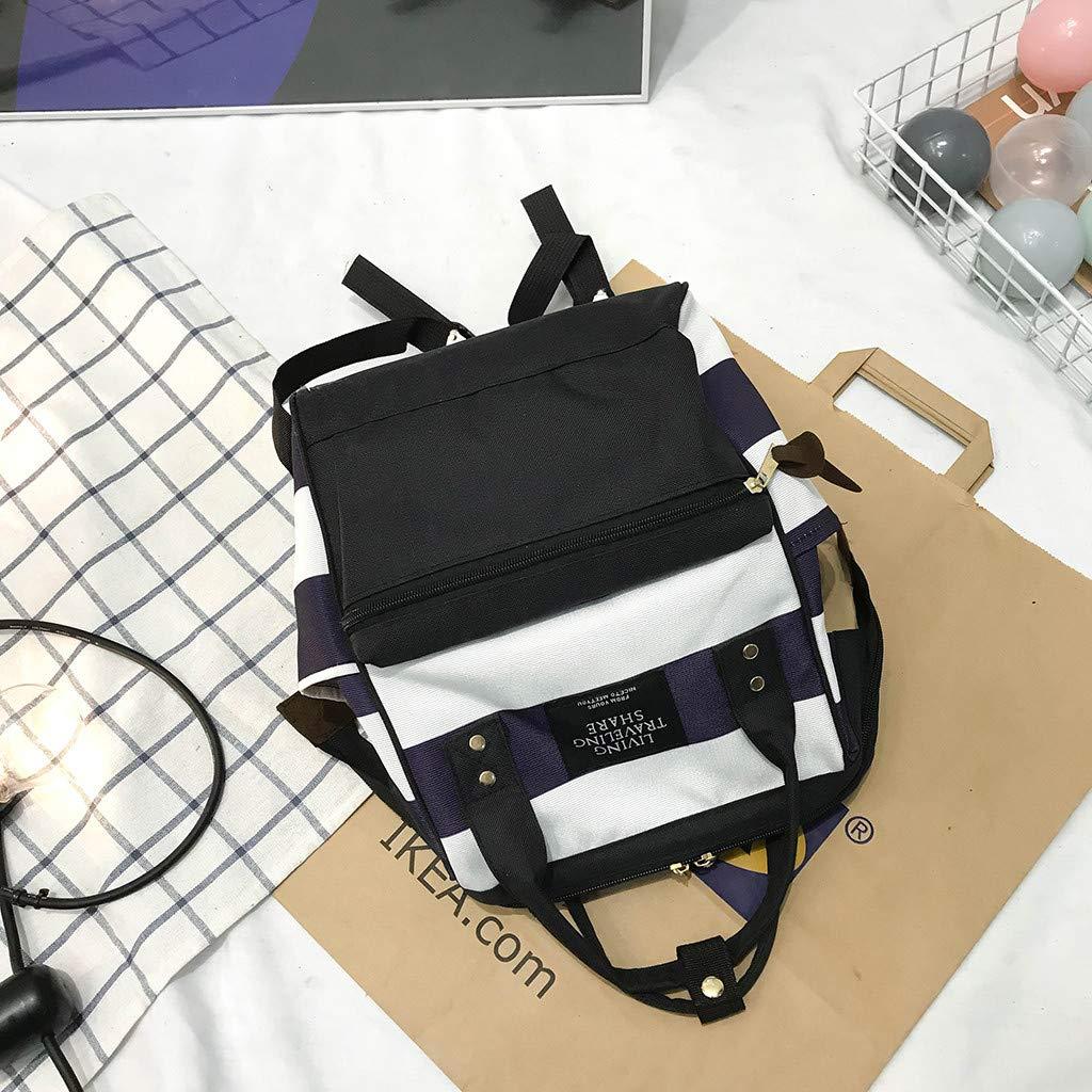 Amazon.com: Canvas School Backpack, Waterproof Laptop ...