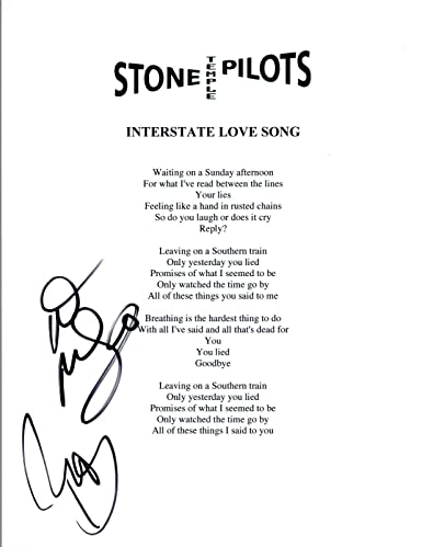 Robert & Dean DeLeo Signed Stone Temple Pilots INTERSTATE