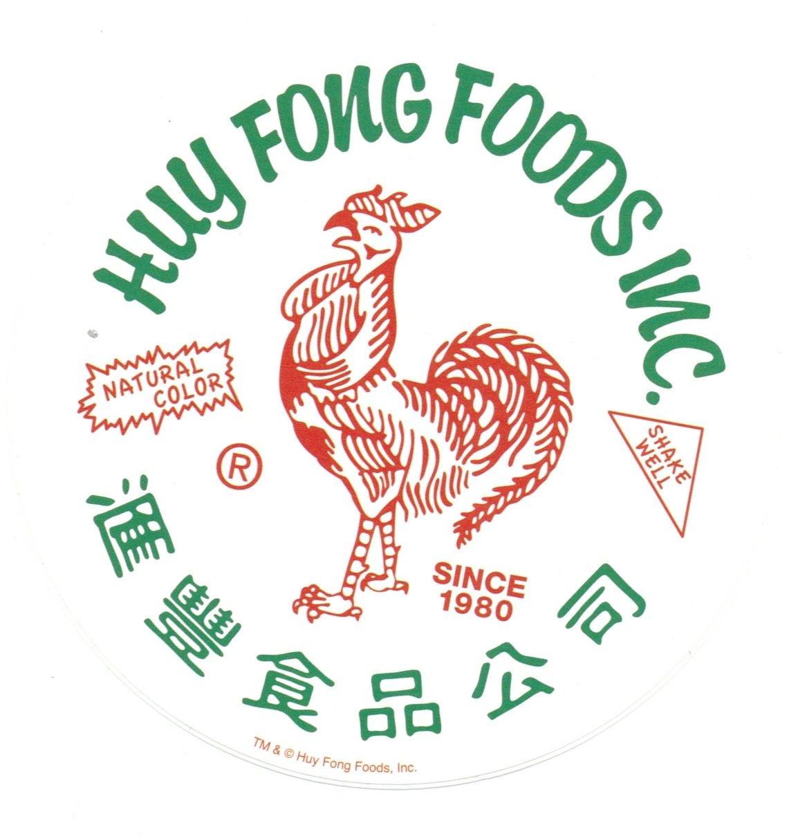 Huy Fong Foods Inc Sriracha White Sticker Hot Properties