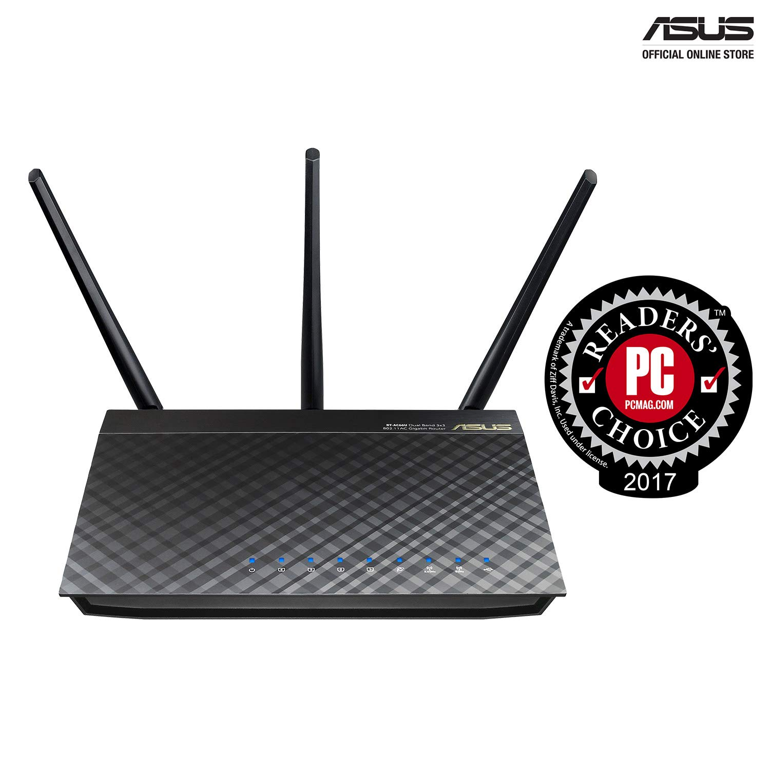 ASUS Dual-band 3x3 AC1750 Wifi 4-port Gigabit Router with speeds up to  1750Mbps & AiRadar to strengthens Wireless Connections via High-powered