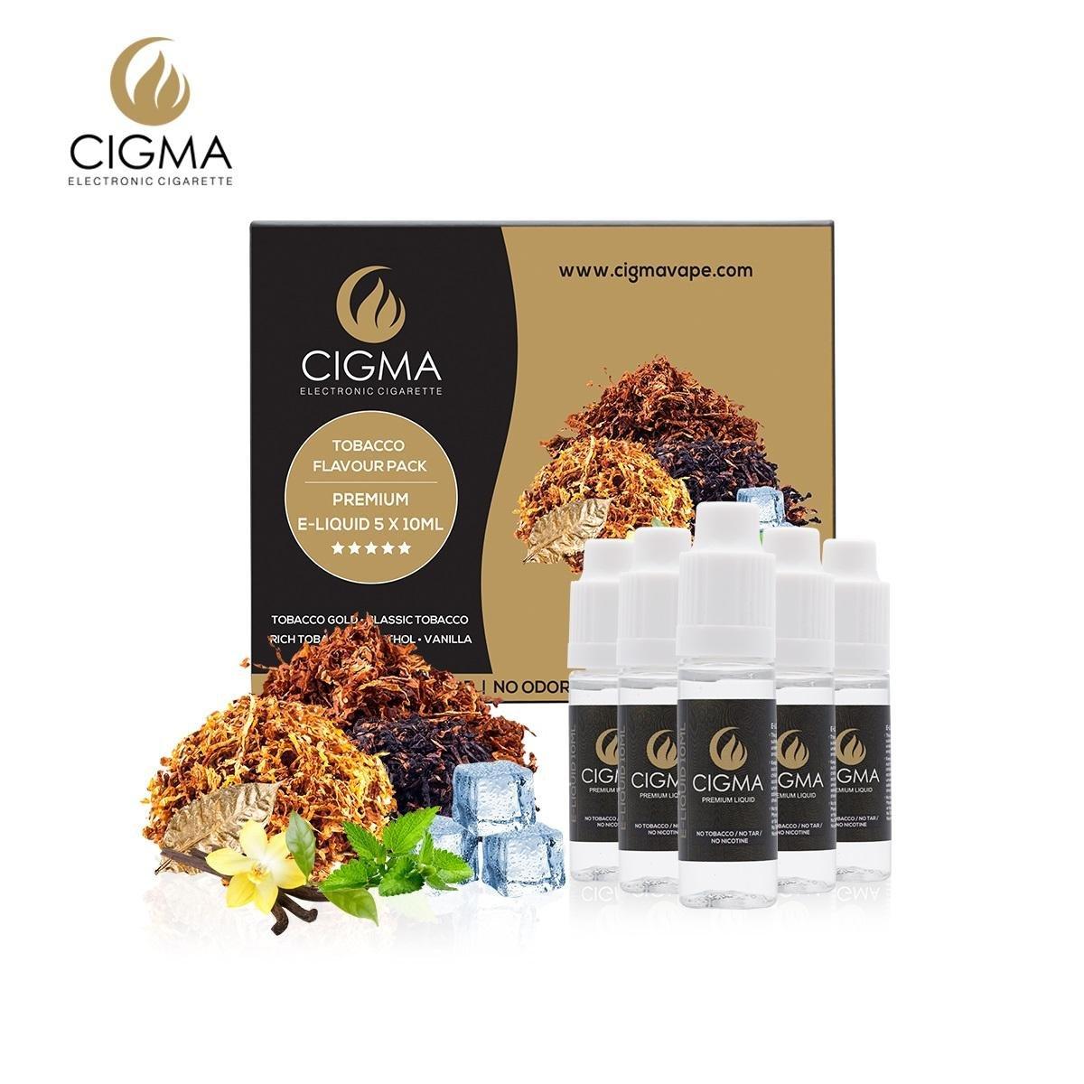 CIGMA 5 X 10ml E Liquid, 0mg (Ohne Nikotin) Klassik Tabak | Gold ...