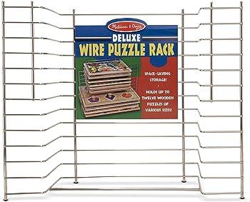 Melissa & Doug Deluxe Wire Puzzle Storage Rack