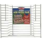 "Melissa & Doug Deluxe Wire Puzzle Storage Rack (Sturdy Metal Construction, Pre-assembled, Wooden Puzzle Storage, 16.5"" H x 13.2"" W x 8.2"" L)"