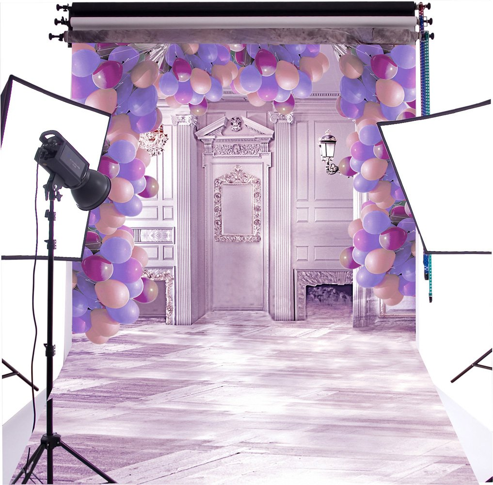 Duluda Balloon Valentine's day 5X7FT Indoor Studio Photography Background Computer-printed Poly Fabric Seamless Backdrop GMWD24