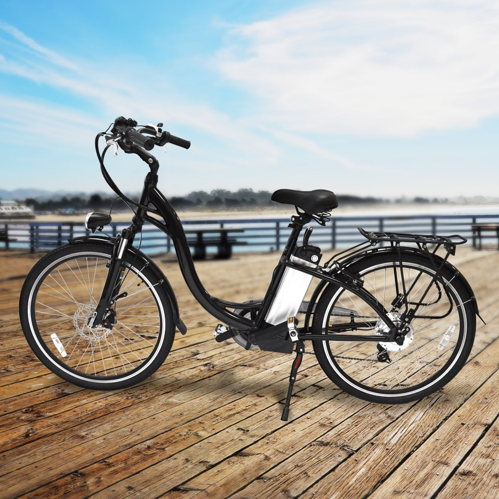 a621800736e Amazon.com : Hover-Way City Cruiser 15 MPH Electric Bike with Pedal Assist  and Removable Lithium-Ion Battery, 12 Mile Range, Black : Sports & Outdoors