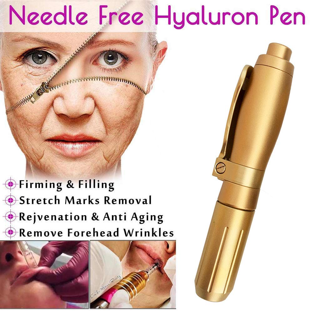 MZBZYX Professional Noninvasive Hyaluronic Injection Pen,Portable Hyaluron Guns Atomizer Helps to Reduce Blemishes Wrinkles Skin Rejuvenation by MZBZYX
