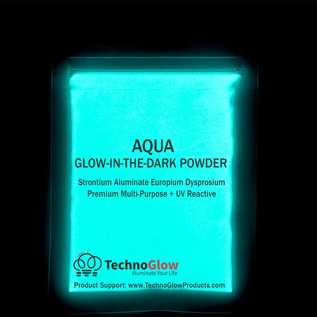 Aqua Glow in the Dark Powder | Various Sizes - 1 Pound by Techno Glow Inc (Image #1)