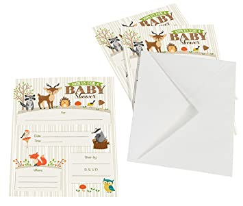 Amazon lillian rose 8 piece woodland baby shower invitations lillian rose 8 piece woodland baby shower invitations neutral 5quot filmwisefo Gallery