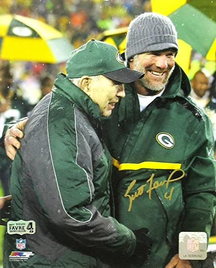 half off 732af 8401e Brett Favre Autographed/Signed Green Bay Packers Jersey Retirement Ceremony  8x10 NFL Photo