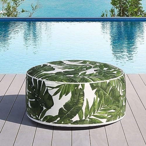 Ove Decors Tropical Green Marlowe Ottoman