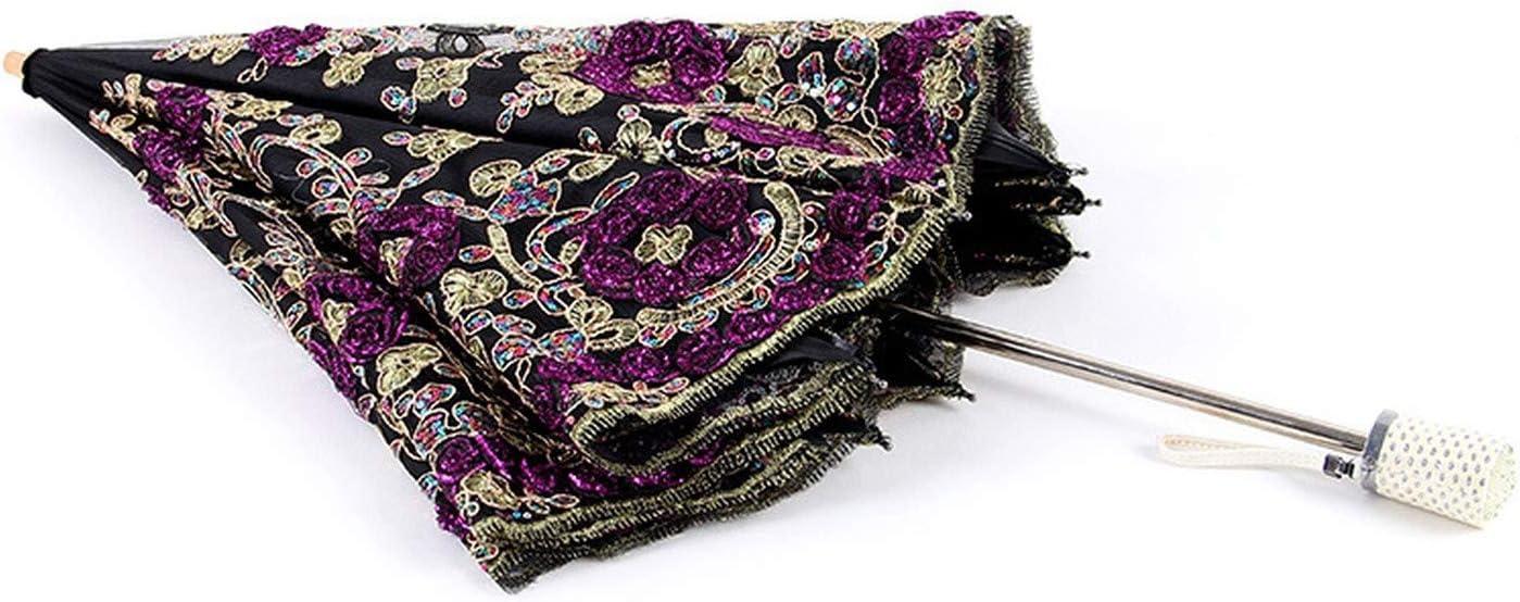 Women Rain Umbrella 2 Folding Female Umbrellas Handle Comfortable Strongly Brand For Princess 86Cm,As Picture3