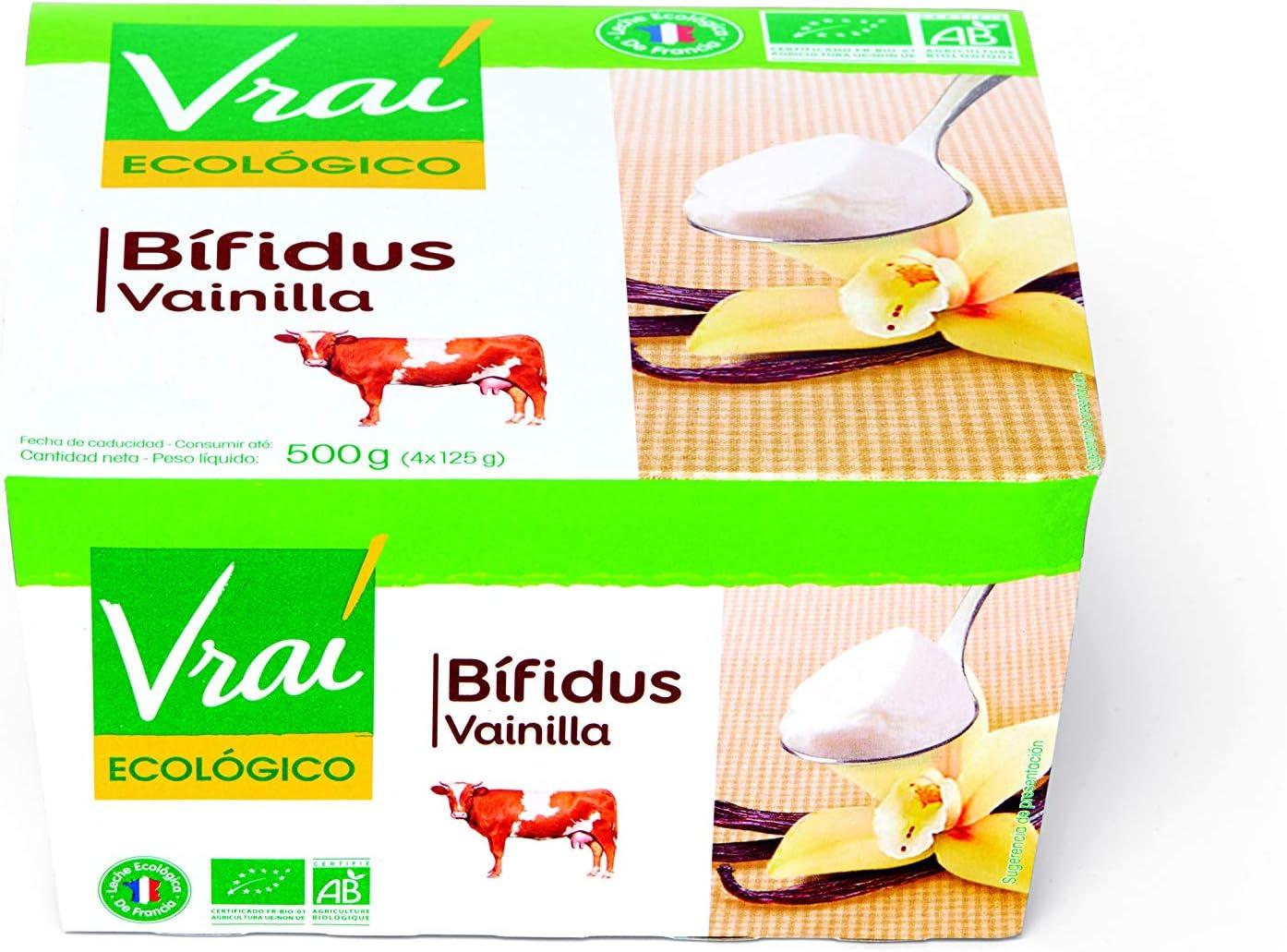 Vrai Yogur Ecológico con Bifidus Sabor Vainilla - 4 Unidades ...