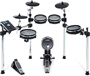 Alesis Command Mesh Kit | Electronic Drum Kit with Mesh Heads, Chrome Rack & Command Drum Module with 70 Kits, 600+ sounds 60 Play Along Tracks, Custom...