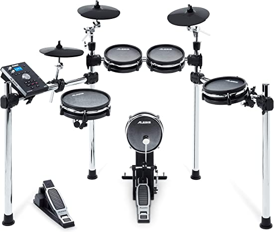 front facing alesis command mesh electronic drum set