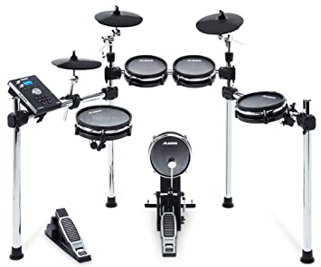 Alesis Command Mesh Kit|8-Piece Electronic Drum Kit with Mesh Heads, Chrome  Rack and Command Drum Module including 70 Kits, 600+ sounds, 60 Backing