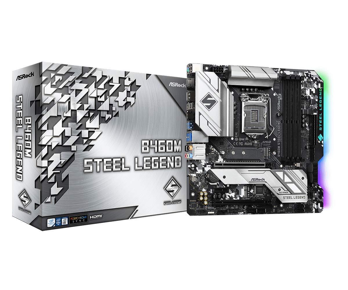 ASROCK B460M Steel Legend Supports 10th Gen Intel Core Proce