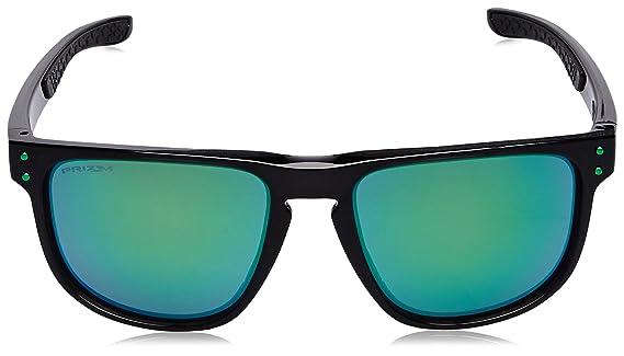 0faf2a2cd4c1e Amazon.com  Oakley Men s Holbrook R Polarized Iridium Square Sunglasses,  Polished Black, 55.0 mm  Clothing