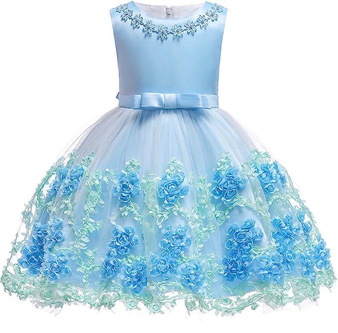 Amazon.com: Vestido de flores para niñas y bebés, para bodas ...