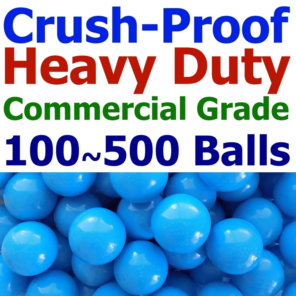 My Balls Pack of Jumbo 3' Selected Color Commercial Grade Heavy Duty Ball Pit Balls - Crush-Proof Phthalate Free BPA Free PVC Free Lead Free Non-Toxic Non-Recycled Plastic CMS