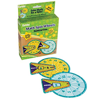Eureka Back To School Subtraction Math Flash Cards for Kids, 12pc, 5.5'' x 1.5'' x 7.5'' : Office Products