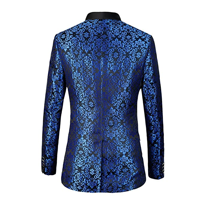 diecaprle Wedding Suit Slim Fit Embroidery One Button Suit(Blazer+Pants) Blue at Amazon Mens Clothing store: