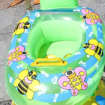 Etuoji Durable Cute Animal Print Inflatable Safety Float Seat Baby Swimming Ring Baby Floats