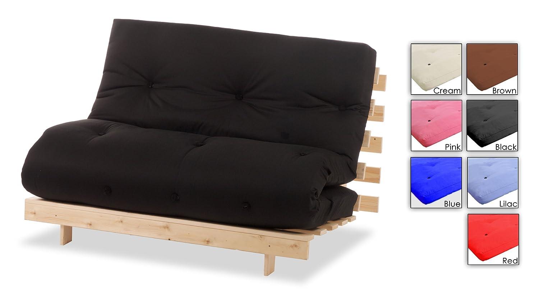 Komplett 2-Sitzer Futon rot, doppelte Holz futongestell und Luxus ...
