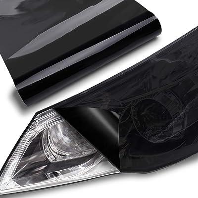 """TECKWRAP Headlight Taillight Vinyl Tint Wrap 11.5\""""x78\"""" Dark Smoke Black: Automotive [5Bkhe0410702]"""