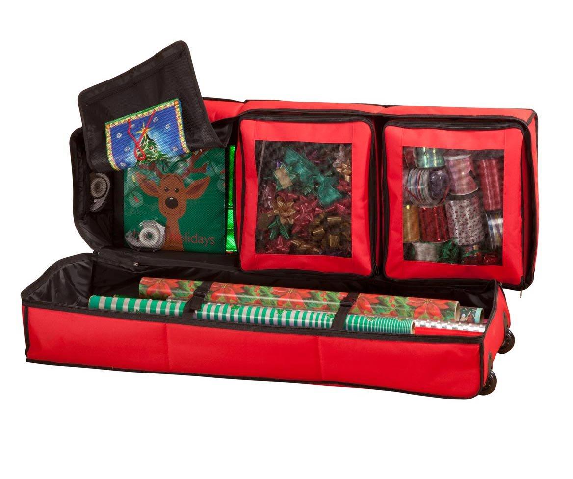 Miles Kimball Gift Wrap Storage Bag Organizer Wheels