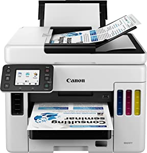 Canon MAXIFY GX7020, Wireless MegaTank Small Office All-in-One Printer, [Print, Copy, Scan, Fax ], White