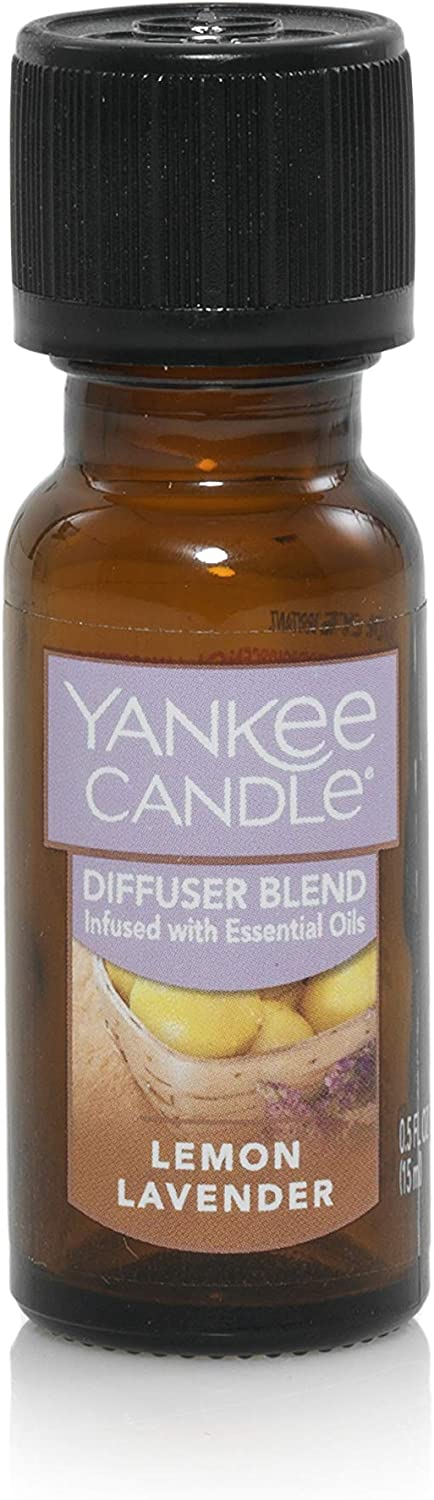 Yankee Candle Home Fragrance Oil | Lemon Lavender Scent | for Ultrasonic Aroma Diffuser
