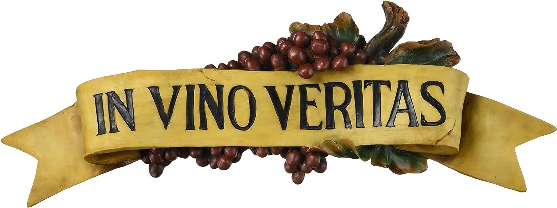 Design Toscano AH22245 In Vino Veritas Wall Plaque,Full Color