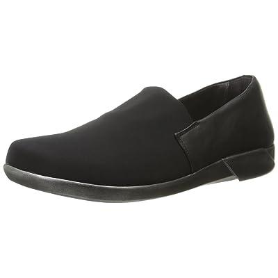 Naot Women's Abstract Flat, Black Stretch/Jet Black Leather, 35 EU/4.5-5 M US | Flats