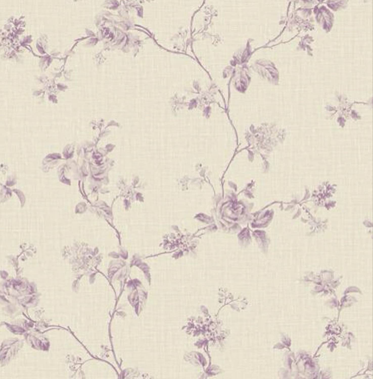 Amazon Com Wallpaper Designer French Country Lavender Rose Floral