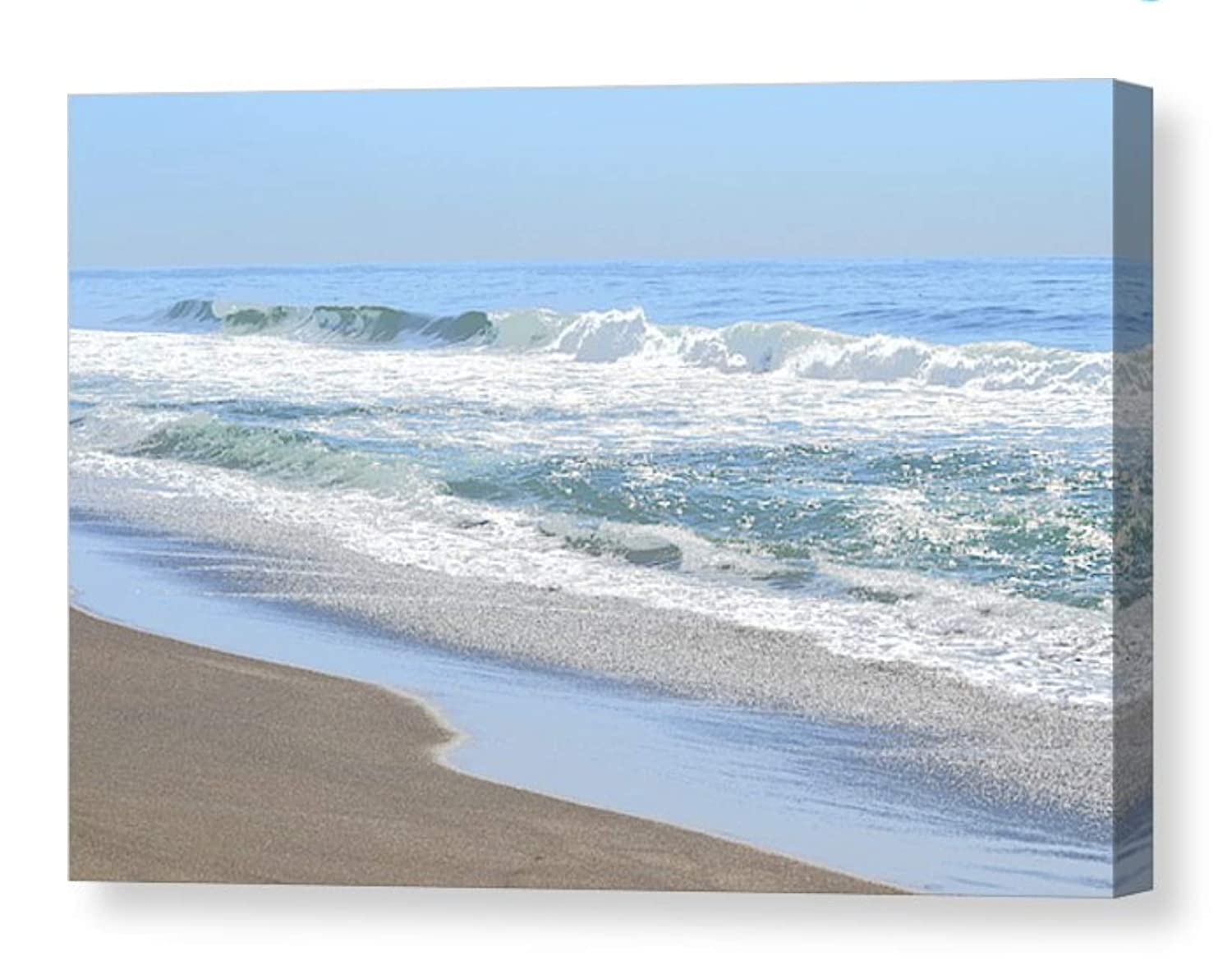 8x12 FT Beach Vinyl Photography Background Backdrops,Coastal Home Design with Ocean Sea Waves Sand Image Art Print Background for Selfie Birthday Party Pictures Photo Booth Shoot