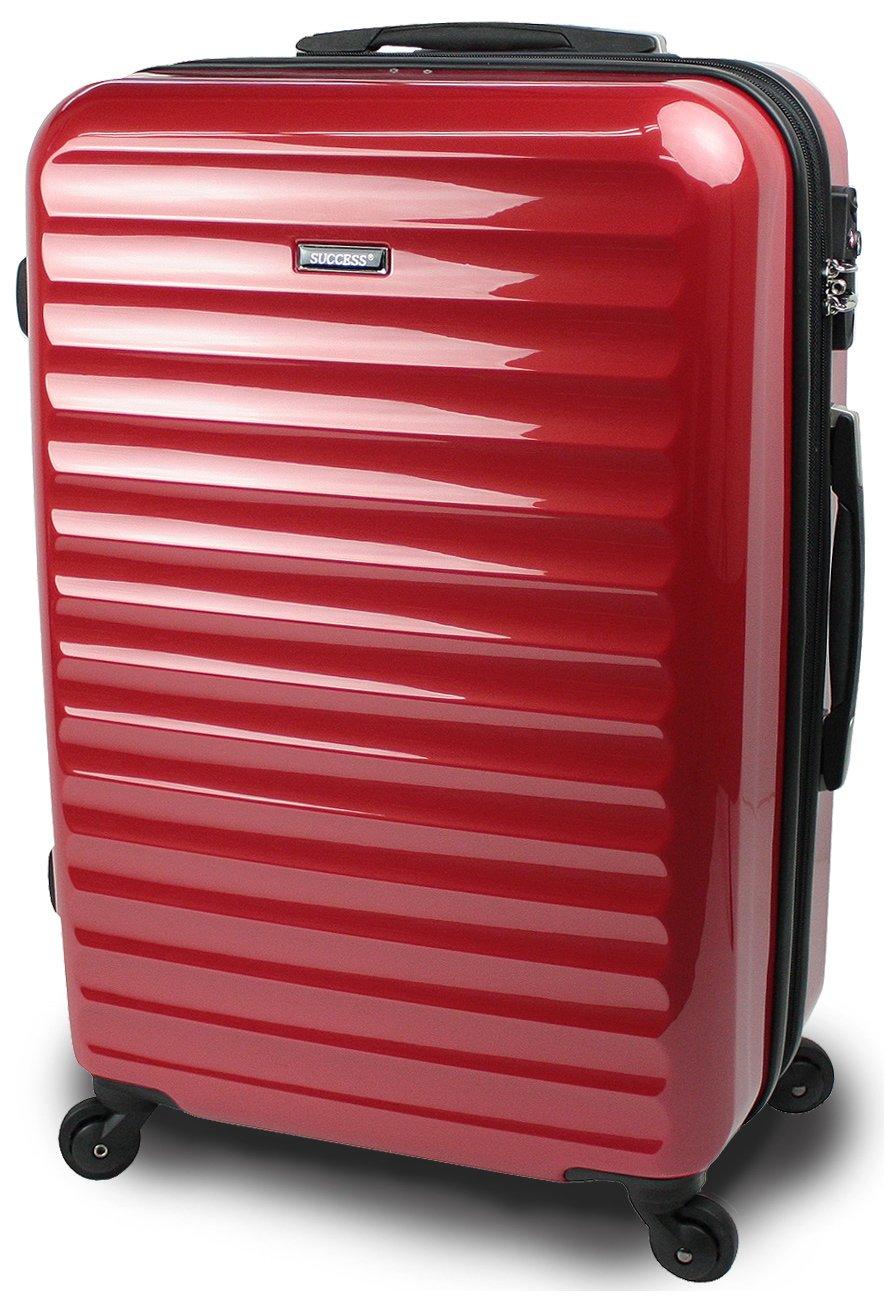 【SUCCESS サクセス】 スーツケース 3サイズ( 大型  中型  小型 ) 超軽量 キャリーバッグ TSAロック 搭載 【 ヴィアーノ2016 ダブルファスナーモデル 】 鏡面ミラー加工 B00CLR8CMI 中型 67cm|レッド レッド 中型 67cm