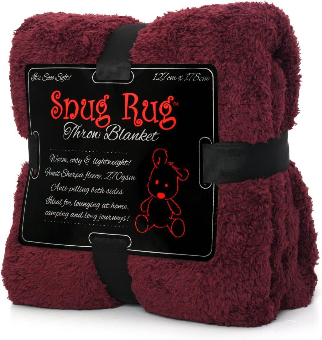 Snug Rug Special Edition Luxury - Manta de Lana Sherpa, 127 x 178 cm (Morera roja)