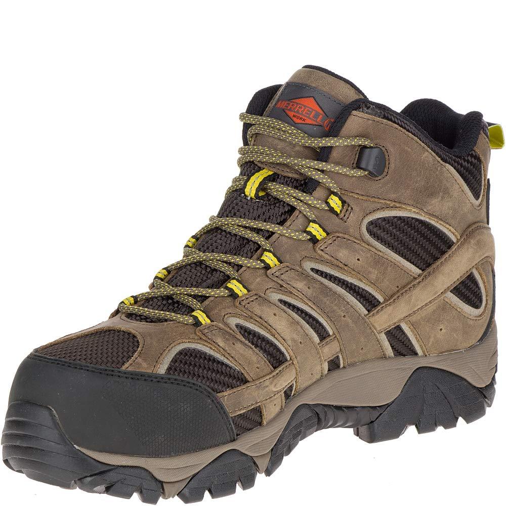 Merrell Moab 2 Vent Mid Waterproof Comp Toe Work Boot Wide Width Men 12 Boulder