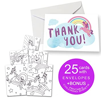 amazon 塗りつぶし空白のthank you cards with envelopes for kids