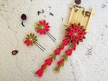 Japanische Schablone für Kanzashi Blumen Haar Clip Haar Pins. Set ...