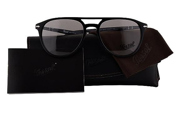 49e36c2578 Persol Authentic Eyeglasses PO3160V Black w Clear Demo Lens 9014 PO 3160-V  (52mm)  Amazon.co.uk  Clothing
