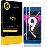 LK [3 Pack Pellicola per Huawei Honor 9, Wet Applied Pellicola Protettiva [Copertura Completa] [Bubble-Free-Riutilizzabile] HD Clear Film con Garanzia di Sostituzione a Vita