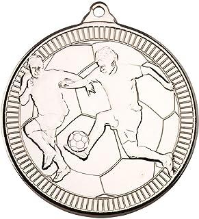 Football 'Multi Line' Médaille–Argent 2en Lot DE 10