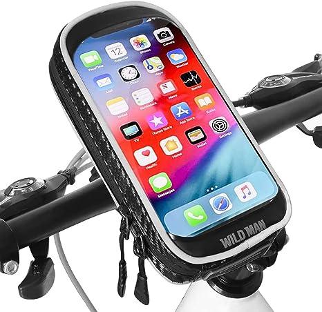 XBoze Soporte Movil Bicicleta Impermeable 360 Grados Rotación Soporte Movil para Moto con Pantalla Táctil Soporte Telefono para Bicicleta para iPhone X/8 Plus/Samsung S9 (6,3 Pulgadas) (Negro): Amazon.es: Electrónica