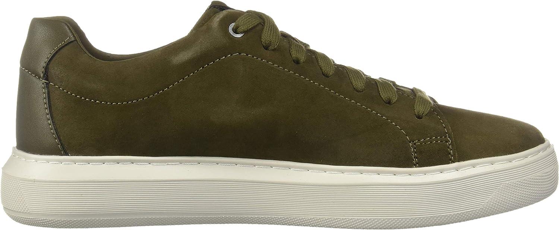 Geox U Deiven B, Sneakers Basses Homme Vert Military C3009