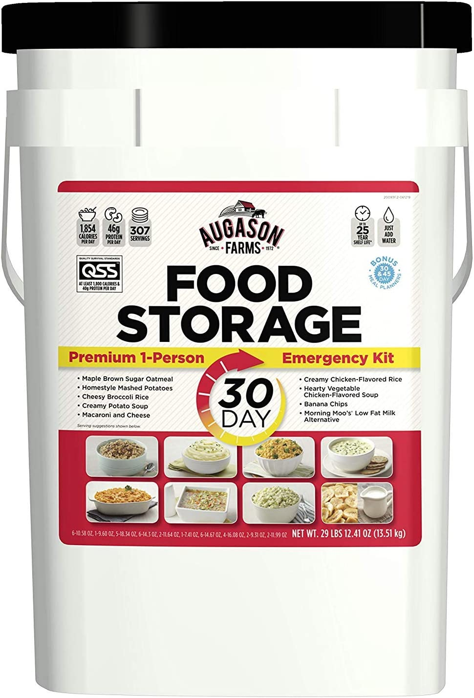 Augason Farms 30-Day Emergency Food Storage Supply 29 lb 4.37 oz 8.5 Gallon Pail (Pack of 1)