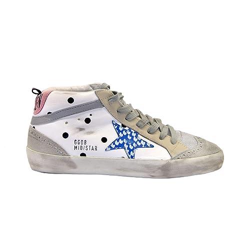Golden Goose Mujer G34WS634Q1 Blanco Cuero Zapatillas Altas: Amazon.es: Zapatos y complementos