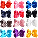 CN Boutique Rhinestone Bow For Girls Grosgrain Ribbon Hair Bow With Hair Clip For Toddler Girls Kids