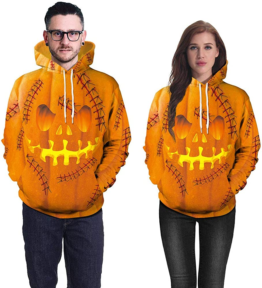 K-Youth Sudadera para Pareja Halloween 3D Estampado Sudaderas ...
