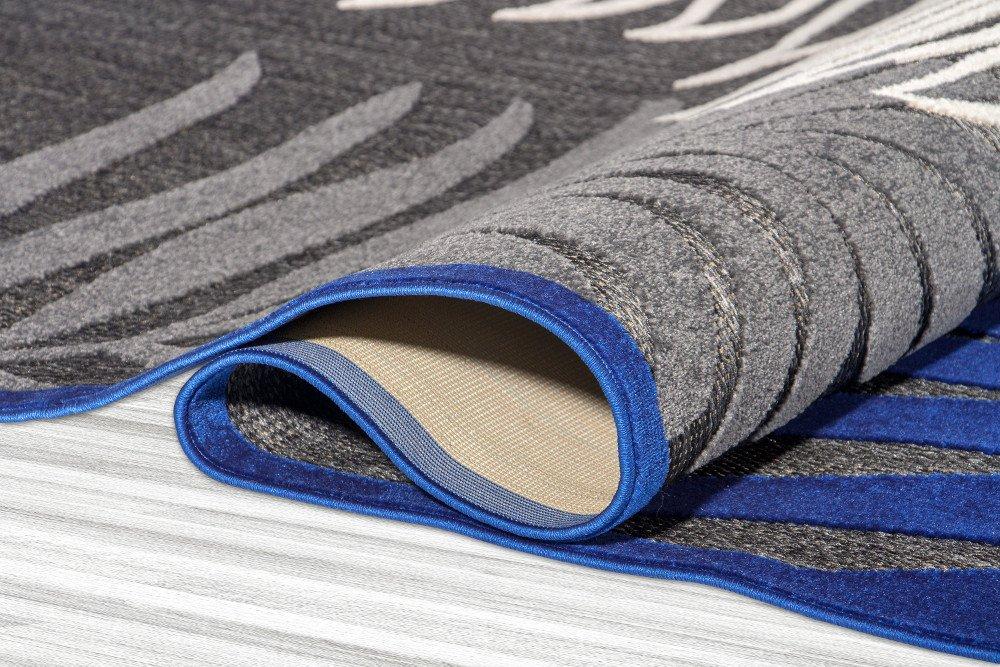 76 x 120 cm /& Outdoor Carpetforyou Teppich Fern Leaves 3D Effekt Pflanzenmotiv schwarz grau blau creme in 4 Gr/ö/ßen f/ür Wohnzimmer Schlafzimmer und Terrasse Moderner flachgewebter In